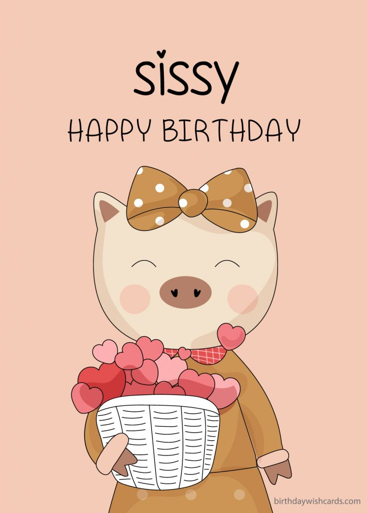 happy birthday image for sister